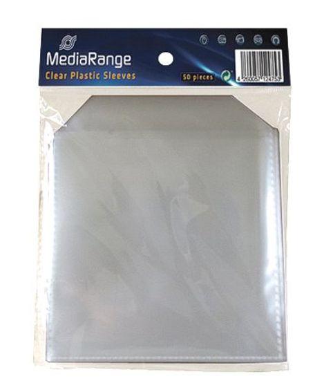 MEDIARANGE PP CD πλαστική θήκη με καπάκι - 50 τμχ
