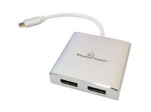 POWERTECH Converter Type-C σε 2x DisplayPort 1.2 CAB-UC034