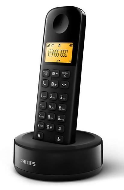 PHILIPS ασύρματο τηλέφωνο D1601B/34