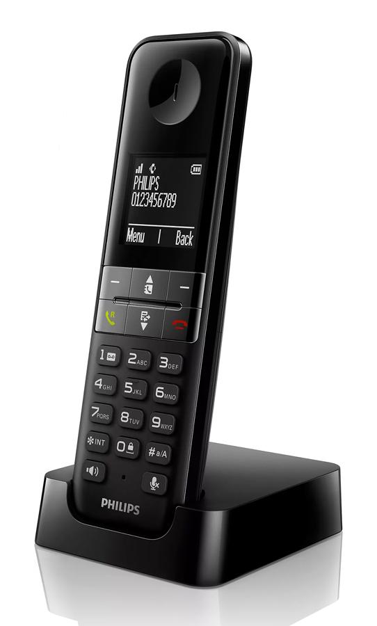 PHILIPS ασύρματο τηλέφωνο D4701B/34